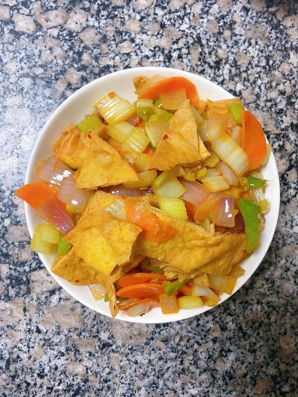 爆香油豆腐的做法