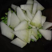 毛豆炒冬瓜的做法图解3