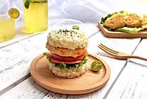 鸡胸肉饼藜麦饭汉堡套餐#初夏搜食#的做法