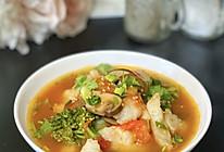 #入秋滋补正当时#减脂番茄蘑菇龙利鱼汤的做法