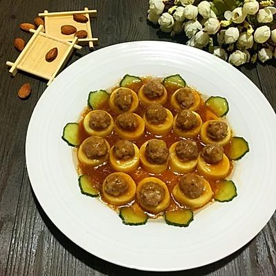 玉子豆腐蒸肉丸