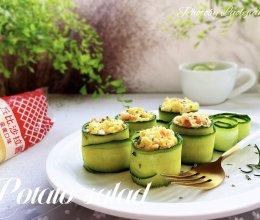 #一起土豆沙拉吧#青瓜土豆泥色拉的做法