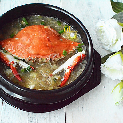 梭子蟹粉丝煲:鲜掉眉毛的海鲜粉条砂锅