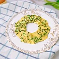 12M+油麦菜鸡蛋软饼:宝宝辅食营养食谱菜谱的做法图解9