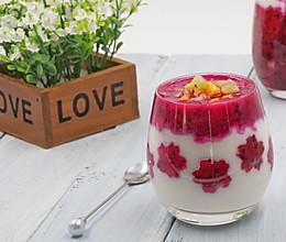 火龙果酸奶思慕雪(面包机酸奶)的做法
