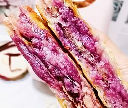 好吃的紫薯芋泥酥饼(手抓饼版)的做法