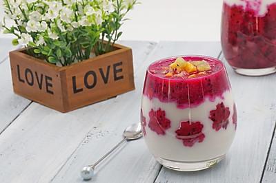 火龙果酸奶思慕雪(面包机酸奶)