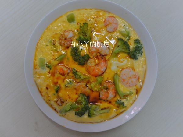 减脂餐|西兰花虾仁豆腐蒸鸡蛋的做法