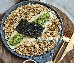 #换着花样吃早餐#牛油果芥末酱油煎鱼柳佐香松炒饭的做法
