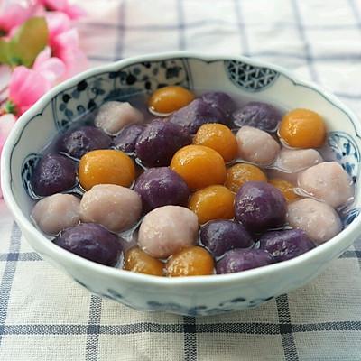 七彩葛根芋圆~~夏季甜品首选