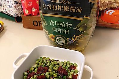 青豌豆炒广式腊肠