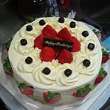 8寸戚风奶油蛋糕