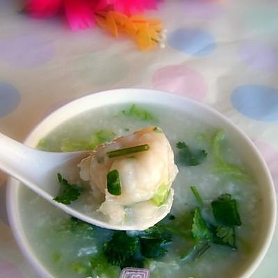 广东生滚粥:生菜鱼丸粥