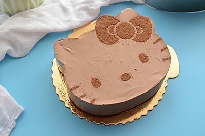 Hello Kitty巧克力慕斯蛋糕