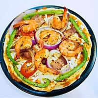 鮮蝦培根披薩的做法圖解11