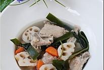 莲藕海带排骨汤的做法