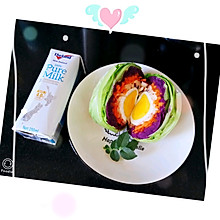 独家私房无油低脂快手减脂早餐#好吃的蔬菜饭团