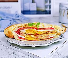 #今天吃什么#奶酪火腿鸡蛋三明治的做法