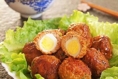 红烧鹌鹑肉丸蛋