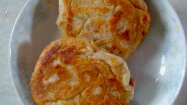 香葱肉馅千层饼的做法