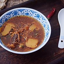 松茸羊肚菌乌鸡汤