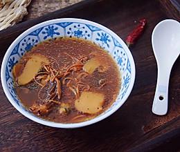 松茸羊肚菌乌鸡汤的做法