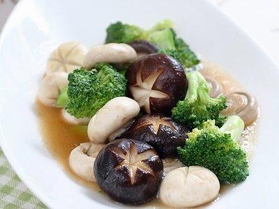 蚝油双菇西兰花 的做法