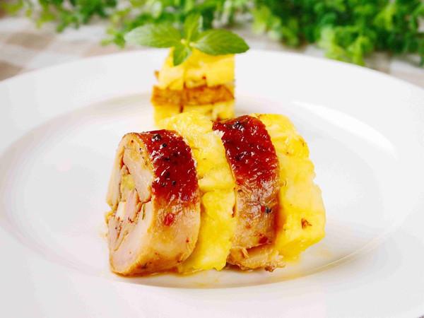 黑胡椒凤梨鸡肉卷的做法