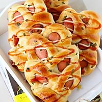 麦穗脆皮肠面包,冷藏法的柔软面包的做法图解17