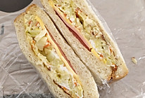 卷心菜三明治早餐的做法