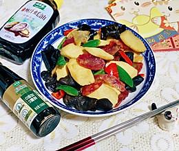 #百变鲜锋料理#广东年味菜-腊肠山药炒木耳的做法