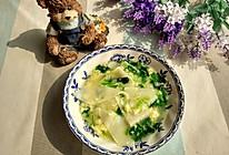 儿童辅食—简单好吃—菠菜鸡蛋面片汤的做法