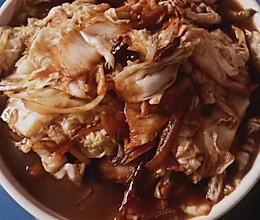 白菜炒肉的做法