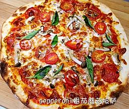 repperoni番茄蘑菇披萨的做法