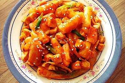【减脂增肌】韩式鸡胸炒年糕