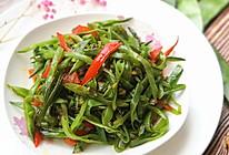 眉豆炒辣椒的做法