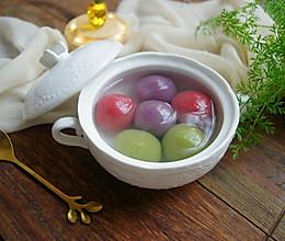 #憋在家里吃什么#三色汤圆——无油花生馅的做法