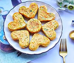 #好吃不上火#香葱胡萝卜鸡蛋饼的做法