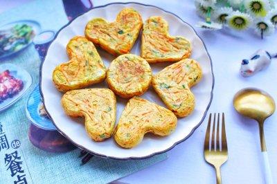 #好吃不上火#香葱胡萝卜鸡蛋饼