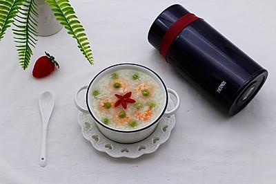 虾仁青豆糯米粥