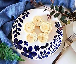#换着花样吃早餐#沙拉酱香蕉吐司卷的做法