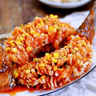 一鱼两吃:松子鱼和椒盐鱼排