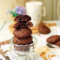 #带着美食去踏青#淡奶油巧克力软曲奇的做法图解12