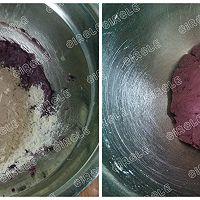 紫薯樱花饼干,有颜更好吃#浪漫樱花季#的做法图解6