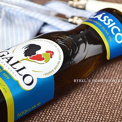 橄露Gallo经典特级初榨橄榄油试用之二——蒜蓉油醋汁拌秋葵的做法 步骤1