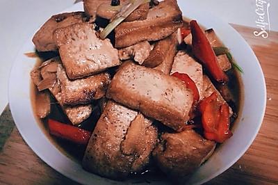 红烧黄金豆腐