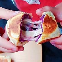 网红糕点——紫薯爆浆芝士仙豆糕#福临门面粉舌尖上的寻味之旅#的做法图解14