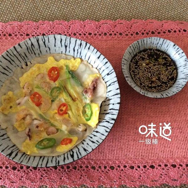 利仁电饼档试用之韩式海鲜煎饼的做法