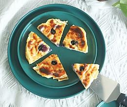 爆浆蓝莓酸奶蛋糕,无油少糖,布丁口感!的做法