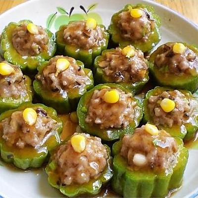 粤式风味家常常菜--冬菇苦瓜酿